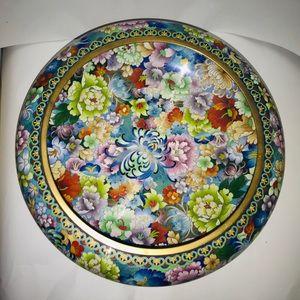 "Other - Vintage Cloisonné Bowl 15 1/4"" Wide 5 1/4"" High"